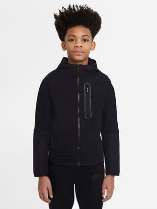 KIDS Big Kids' (Boys') Woven Full-Zip Hoodie Nike Sportswear Tech Fleece
