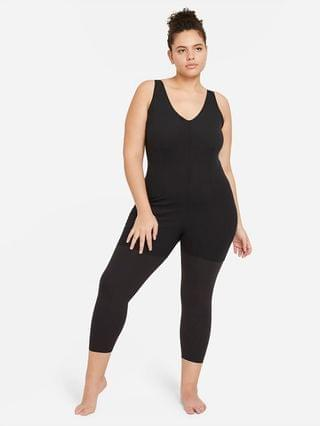 WOMEN 7/8 Layered Jumpsuit (Plus Size) Nike Yoga Luxe