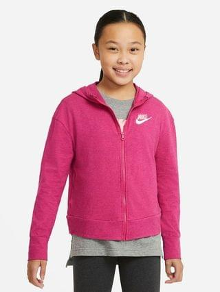 KIDS Big Kids' (Girls') Full-Zip Jersey Hoodie Nike Sportswear