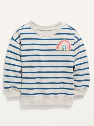KIDS Striped French Terry Sweatshirt for Toddler Girls