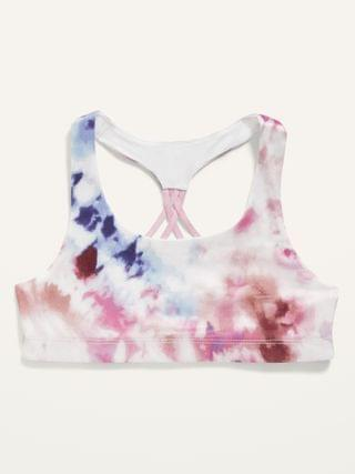 KIDS Go-Dry Printed Strappy Sports Bra for Girls