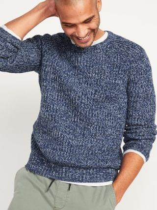 MEN Textured Rib-Knit Crew-Neck Sweater for Men