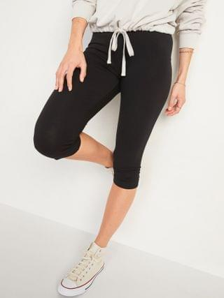 WOMEN High-Waisted Jersey Capri Leggings for Women