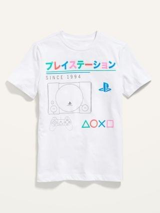 KIDS Sony PlayStation Graphic Gender-Neutral Tee for Kids