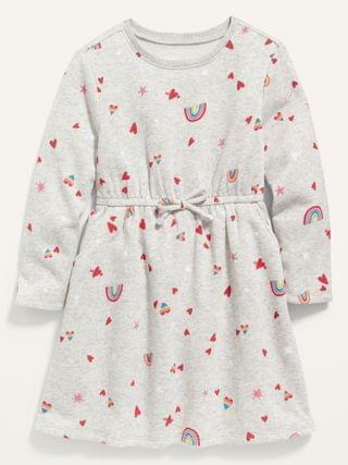 KIDS Fit & Flare Valentine-Print Dress for Toddler Girls