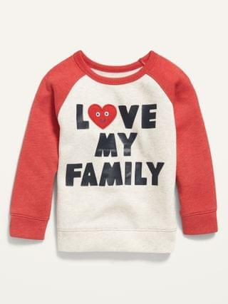 "KIDS ""Love My Family"" Graphic Raglan Sweatshirt for Toddler Boys"