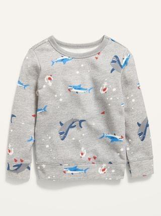 KIDS Shark-Print Sweatshirt for Toddler Boys