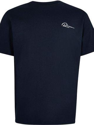 KIDS navy curved hem t-shirt