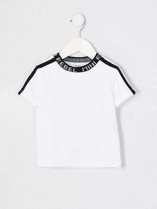 KIDS Mini boys white 'Mini rebel' neck t-shirt