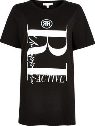 WOMEN Black RI Active maternity t-shirt