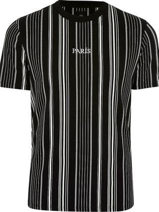 MEN Big & Tall black stripe 'Paris' t-shirt