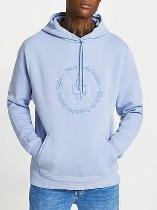MEN Blue 'Casa Studios' slim fit hoodie