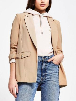 WOMEN Beige pocket detail blazer