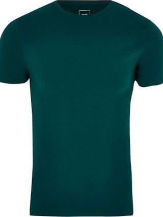 MEN Green muscle fit short sleeve t-shirt