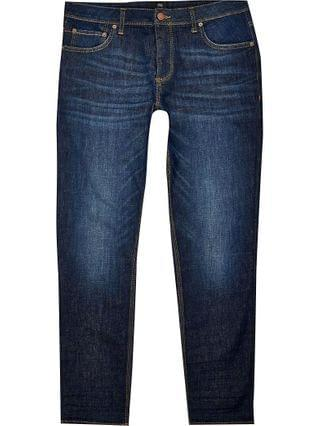MEN Big & Tall dark blue Dylan slim fit jeans