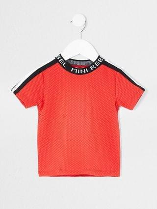 KIDS Mini boys red 'Mini rebel' neck t-shirt