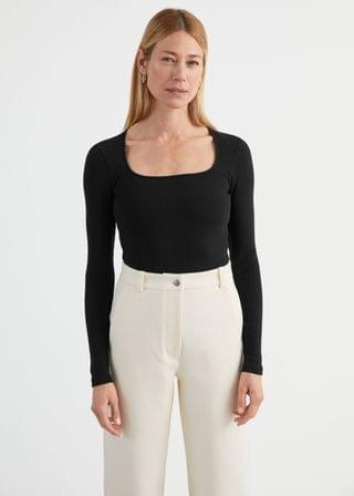 WOMEN Fitted Square Neck Top