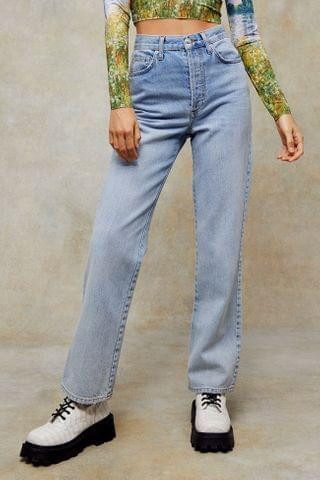 WOMEN CONSIDERED Bleach Kort Parallel Jeans