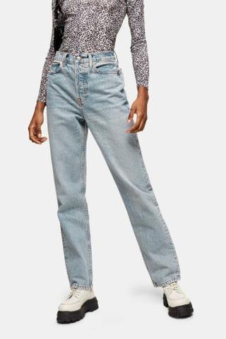 WOMEN Bleach Dad Straight Jeans