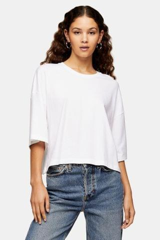 WOMEN White Washed Boxy T-Shirt