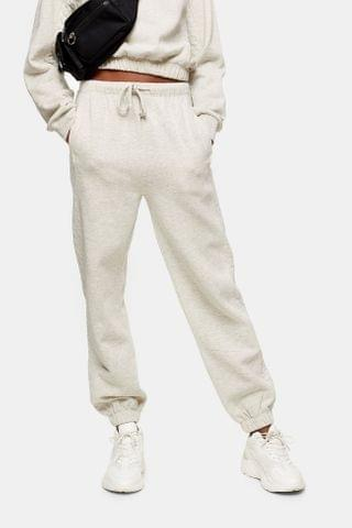WOMEN Gray Quilted Sweatpants