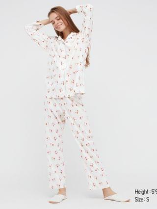 WOMEN joy of print soft stretch pajamas