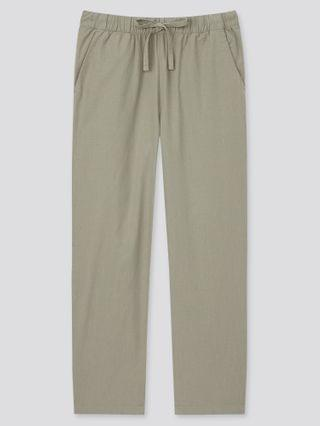 WOMEN cotton relax solid ankle pants (online exclusive)
