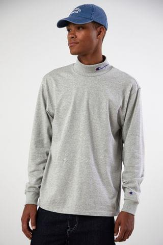 MEN Champion Heavyweight Mock Neck Long Sleeve Tee