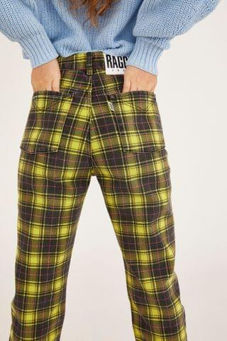WOMEN The Ragged Priest Checkered Mom Jean