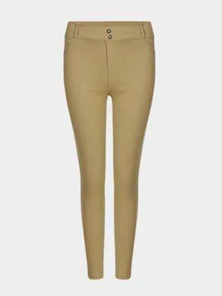 WOMEN Khaki Simple Ladies Style Fashion Leggings