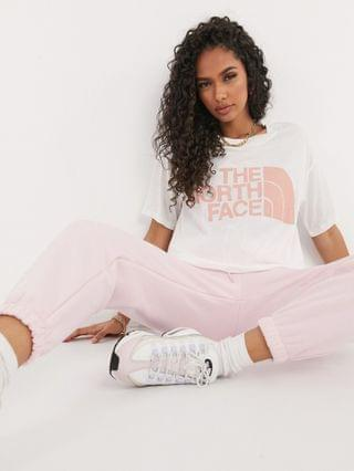 WOMEN The North Face Half Dome Cropped t-shirt in white