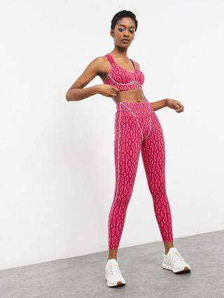 WOMEN adidas x IVY PARK monogram cut out bralet in bold pink