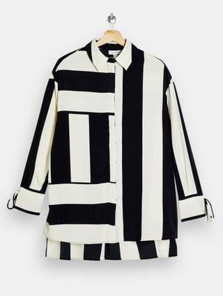 WOMEN Topshop striped shirt in black and white