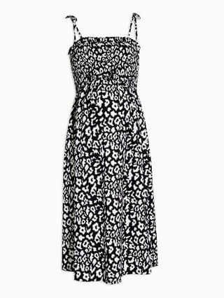 WOMEN Topshop Maternity animal print midi dress in black and white