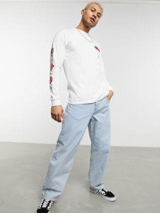 MEN Vans Rose Bed long sleeve T-shirt in white