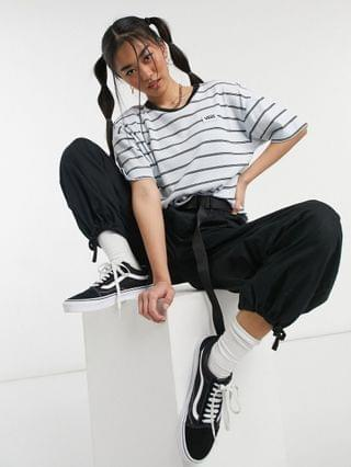 WOMEN Vans Raz stripe t-shirt in white/black