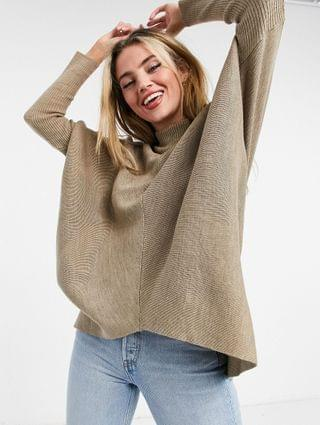 WOMEN Style Cheat Hope knitted roll neck sweater in beige