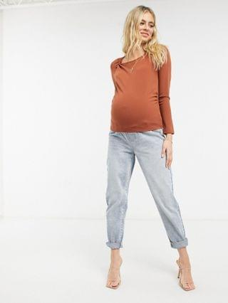 WOMEN Fashion Union Maternity long sleeve top with twist neck