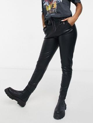 WOMEN Only coated pants in black