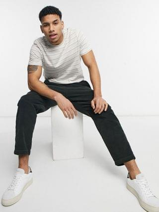 New Look stripe T-shirt in off white