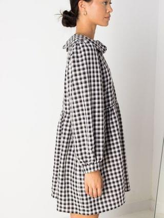 WOMEN Daisy Street mini smock dress with collar in gingham check