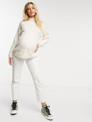 WOMEN New Look Maternity seam front sweater in camel