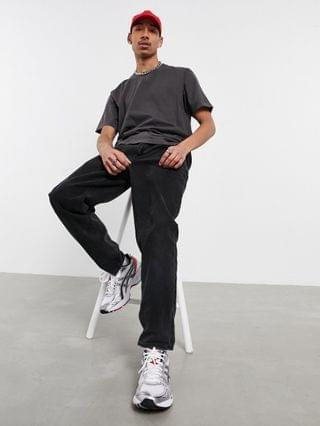Weekday Frank washed T-shirt in black