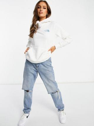 WOMEN The North Face Box NSE hoodie in white