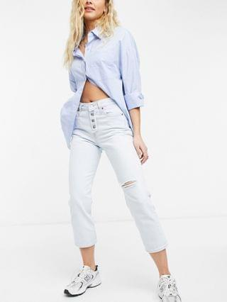 WOMEN Levi's wedgie straight leg jeans in bleach wash