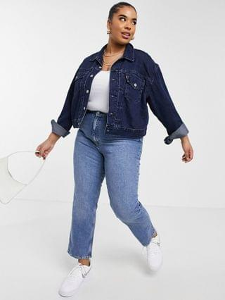 WOMEN Levi's Plus heritage denim trucker jacket in navy