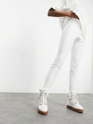 WOMEN adidas x IVY PARK latex pants in core white