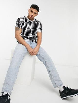 Jack & Jones Core t-shirt in stripe black & white