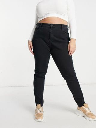 WOMEN Levi's Plus 721 high rise skinny jeans in black