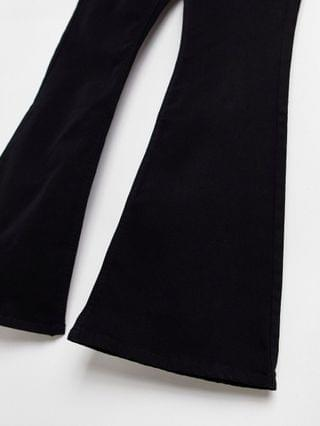 WOMEN Topshop Jamie flared jeans in pure black